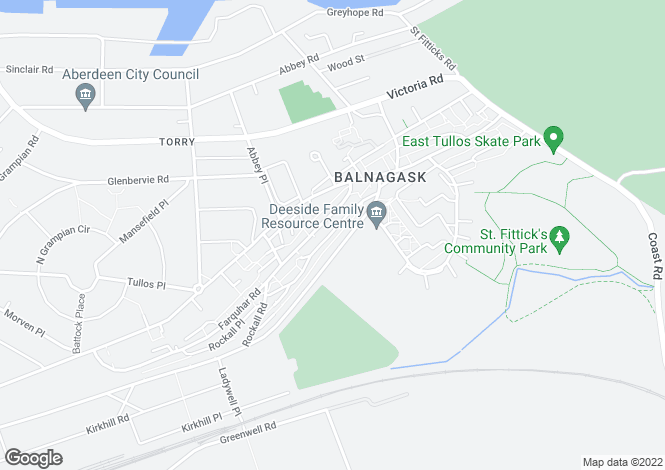 Map for 2, Lochnagar Road, Torry, Aberdeen, AB118SX