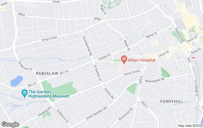 Map for Savills, Aberdeen