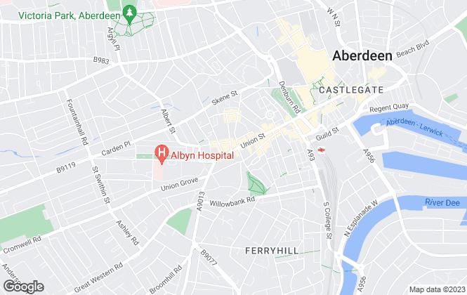 Map for Aberdein Considine, Aberdeen