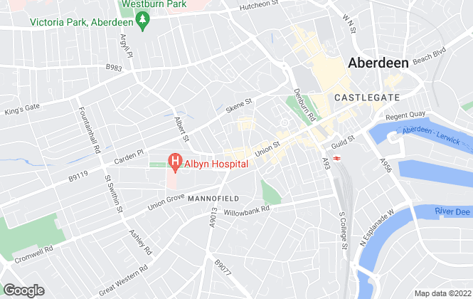 Map for Morna Petrano, Aberdeen