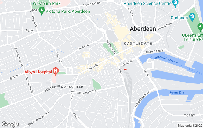 Map for DM Hall , Aberdeen
