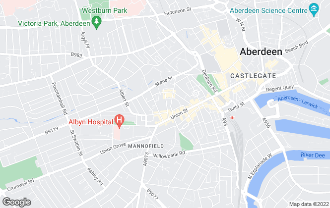 Map for Murray & Currie, Aberdeen