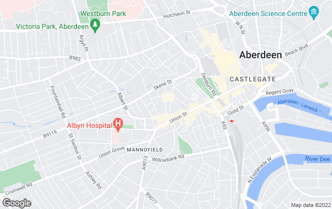Map for Town & Country Leasing, Aberdeen