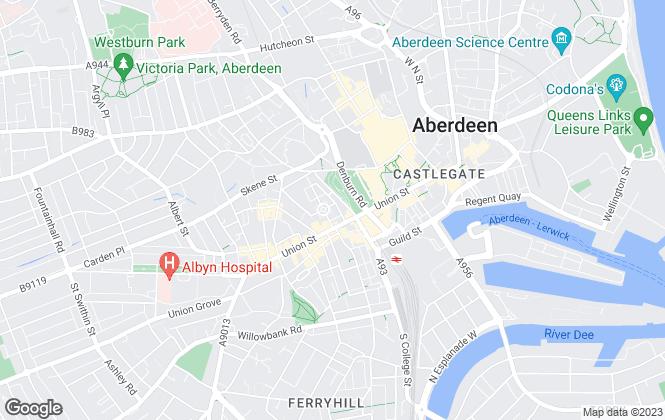 Map for Aberdeen Letting Centre, Aberdeen