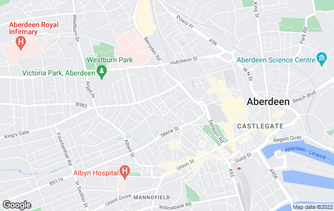 Map for Winchesters Lettings Limited, Aberdeen
