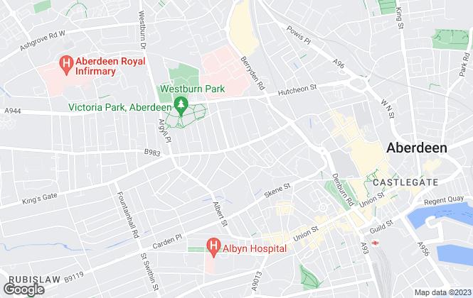 Map for Homeguard Leasing, Aberdeen