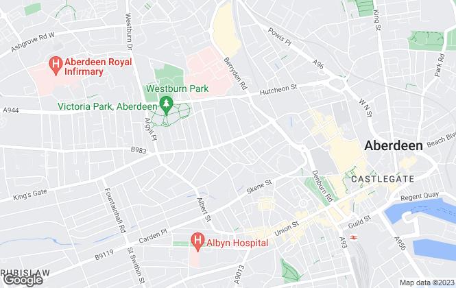Map for Parkhill Properties, Aberdeen