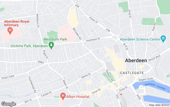 Map for Belvoir, Aberdeen