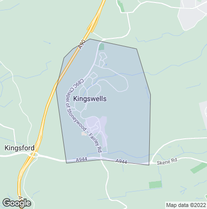 Map of property in Kingswells