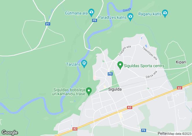 Map for Riga Region, Sigulda