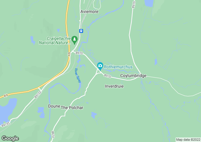 Map for Tigh An Druidh, Inverdruie, Rothiemurchus, Aviemore, PH22