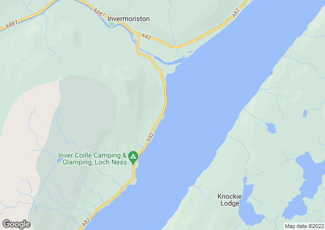 Map for Pier Cottage, Fort Augustus Road, Invermoriston, Inverness-shire, IV63 7YE