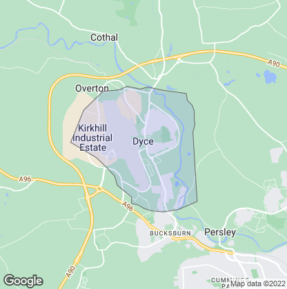 Map of property in Dyce