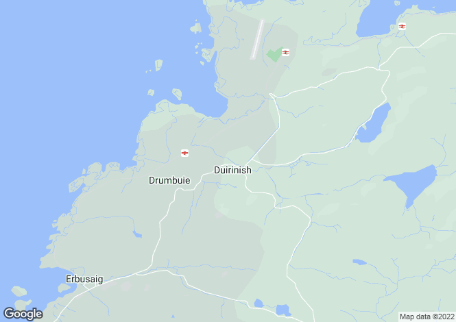 Map for Station Cottage, Duirinish, Kyle, Ross-Shire