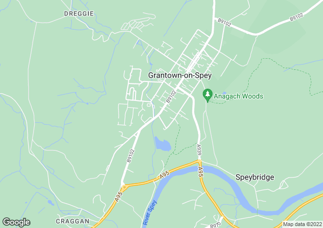 Map for Grantown on Spey