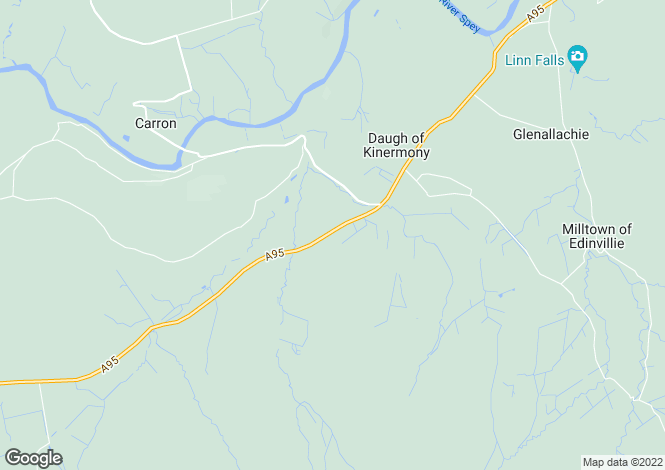 Map for Parkside, Aberlour, Moray, AB38
