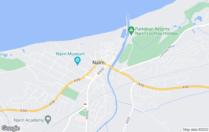 Map for E2W Property Management, Nairn