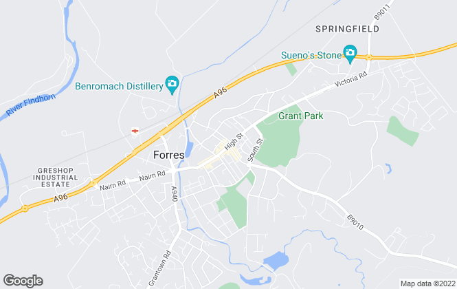 Map for Grampian Property Centre, Forres