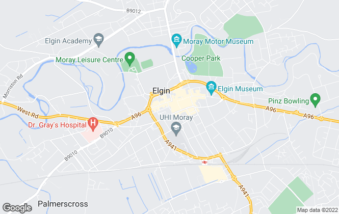 Map for Belvoir, Elgin
