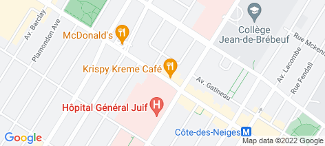 location on map of Mr. Puffs (Cote Des Neiges)