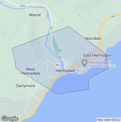Map of property in Helmsdale