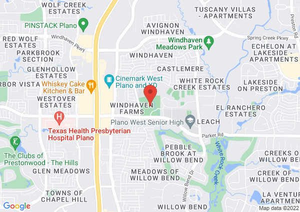 Map of 5801 West Parker Road, Plano, TX, USA