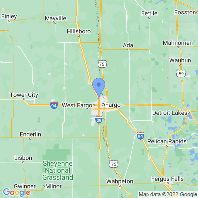 Map of truck driving jobs in Fargo, North Dakota