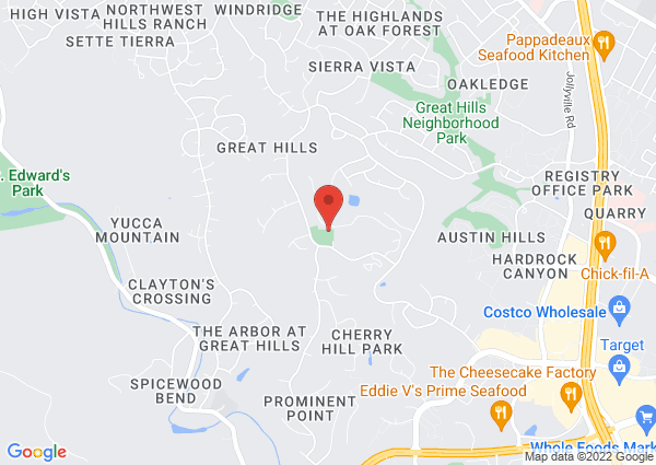 Map of 5914 Lost Horizon Drive, Austin, TX