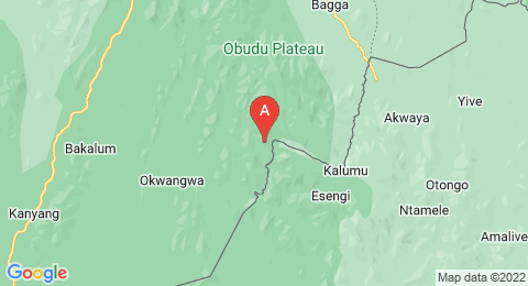 map of Oshie Ridge (Nigeria)