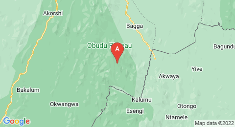 map of Obudu Plateau (Nigeria)
