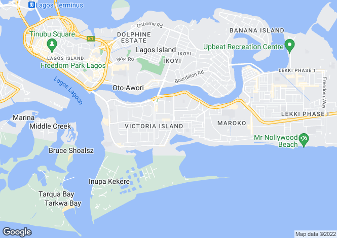 Map for Lagos, Victoria Island
