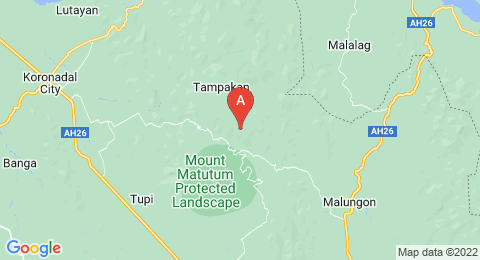 map of Mount Matutum (Philippines)