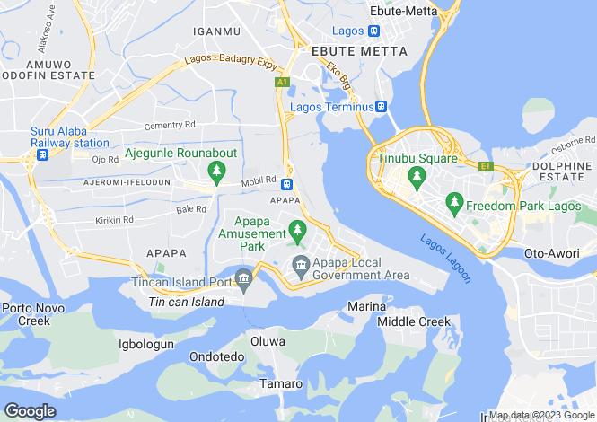 Map for Lagos, Apapa