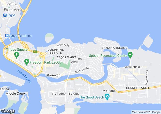 Map for Lagos, Ikoyi