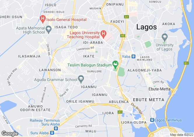 Map for Lagos, Surulere
