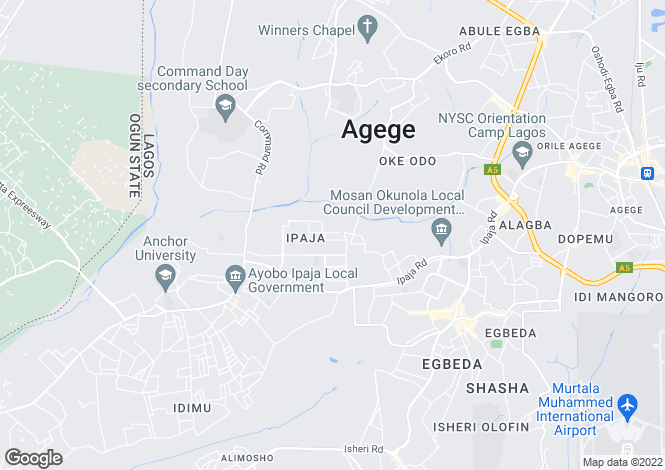 Map for Ikeja, Lagos