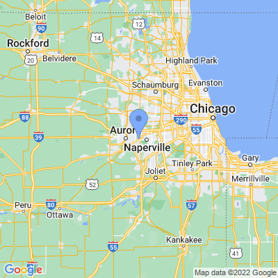 Map of truck driving jobs in Aurora, Illinois