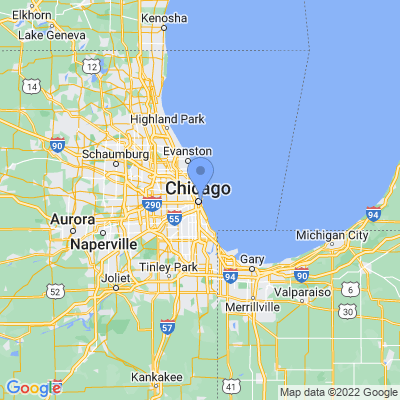 Map of truck driving jobs in Chicago, Illinois