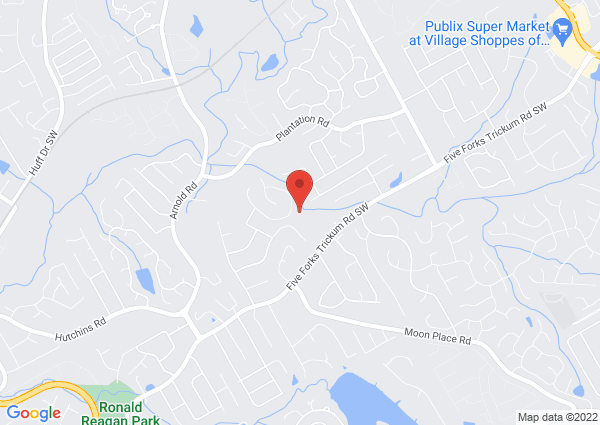 Map of 611 Battersea Drive, Lawrenceville, GA, USA