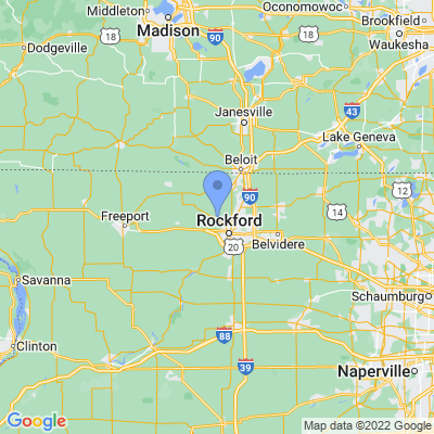 Map of truck driving jobs in Rockford, Illinois