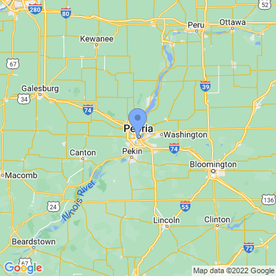 Map of truck driving jobs in Peoria, Illinois