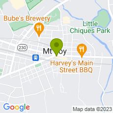 Staticmap?center=64+E.+Main+Street%0D%0AMount+Joy%2C+PA++17552&zoom=14&size=230x230&key=AIzaSyAeTspGNxF9omrAnDm7RMuAOzLtrgwleEY&markers=color:green|64+E.+Main+Street%0D%0AMount+Joy%2C+PA++17552&sensor=false