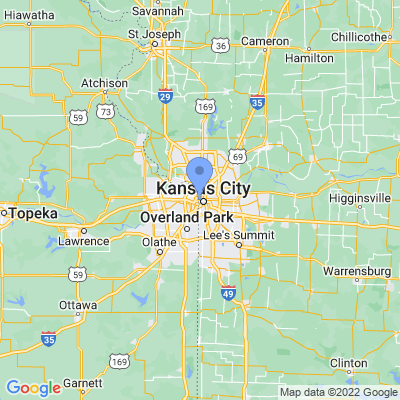 Map of truck driving jobs in Kansas City, Missouri