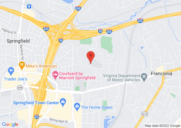 Map of 6500 Deepford Street, Springfield, VA, USA