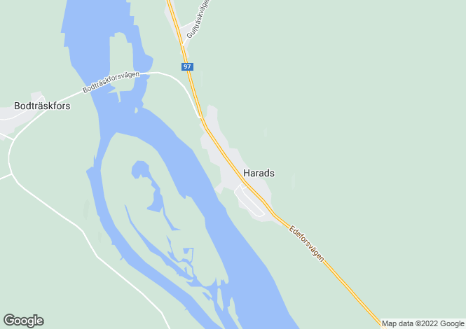 Map for Harads, Norrbotten