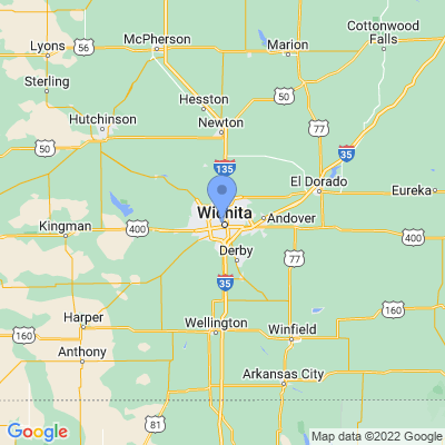 Map of truck driving jobs in Wichita, Kansas