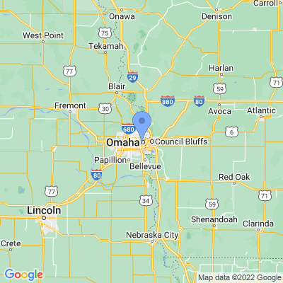 Map of truck driving jobs in Omaha, Nebraska