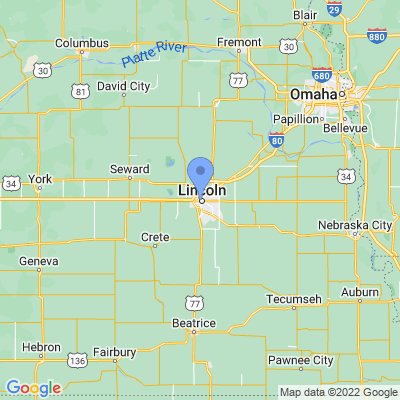 Map of truck driving jobs in Lincoln, Nebraska