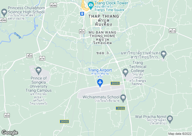 Map for Trang