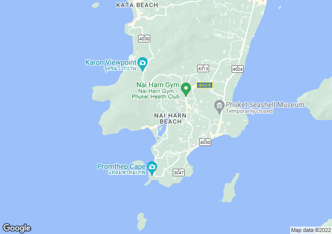 Map for Nai Harn, Phuket, Thailand